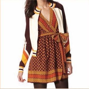 Anna Sui Gossip Girl Collection Silk Wrap Dress XS